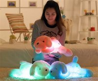 best dog leads - New Year CM Length Creative Night Light LED Lovely Dog Stuffed and Plush Toys Best Gifts for Kids and Friends Christmas Gift Toy