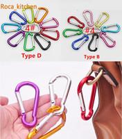 Cheap 100pcs 4# Carabiner Snap Hook Hanger Keychain Hiking Camping Colorful Aluminum Spring Carabiner ring
