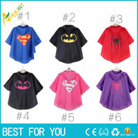 Wholesale New hot Fashion Kids Rain coat New Kids Rain Coat children Raincoat Rainwear Rainsuit Kids Waterproof Supermen Raincoat