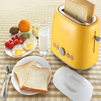 Wholesale XIANGJUN household toaster two automatic toaster toaster breakfast machine earth yellow