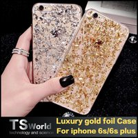amber shine - iphone s plus galaxy s7 s7 edge s6 edge plus luxury glitter bling cases shining gold foil amber solid style clear tpu soft cover pp bag