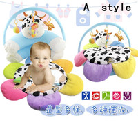 Wholesale 2016 Baby Chair For Baby Inflatable Sofa Flower cow Cute safety portable for feeding seat