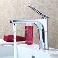 Wholesale Chrome Hot and Cold Water Basin Faucet Mixer Single Handle Water Tap Contemporary