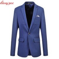 Wholesale Men Dot Blazer Jacket Casual Business Wedding Blazer Suit Male Plus Size XL XL Cotton Formal Masculino Costume Homme F2087