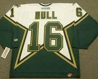Wholesale Brett Hull CCM Vintage Throwback Dallas Jersey shirts size S small xl