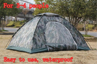 Wholesale x Portable Camouflage Camping Tent for persons Mosquito Prevention Waterproof