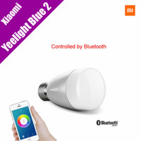 Wholesale Yeelight Blue II W E27 Bluetooth LED Bulb RGB White Light Remote Controlled by Smart Phone Android Phone Smart Home Lamps