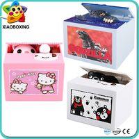 Wholesale New Arrival Toys Godzilla Kumamon Hello Kitty Chinchilla Automatic Stealing Money Box Piggy Bank Coin Bank