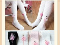 ballet pantyhose - Girls Pantyhose Autumn Girls dance ballet leggings kids pants baby cotton plaid leggings princess socks A9460