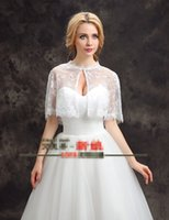 Wholesale Cheap Off white Lace Jacket Wedding Dress For Bridal Wedding Wraps Summer Bridal Jackets Fall Hot Sell