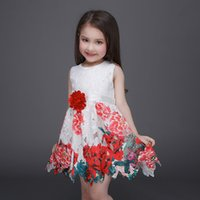amazing clothes - prettybaby european new amazing fashion kids dress hollow lace floral print brand girl dresses embroidery summer children clothes