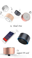 alloy cylinder - A10 bluetooth speakers Fashion Modern Aluminum Alloy Cylinder Wireless Calls Handsfree TF Card Music Bass Subwoofer Stereo DHL