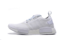 Wholesale NMD R1 Primeknit PK black white S79168 Men s Women s Classic Cheap Fashion Campus Sport Shoes With Boxes