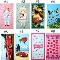 Wholesale 10pcs Types Fashion Printing cm Hot Sale Absorbent Microfiber Bath Beach Towel Drying Washcloth Swimwear Shower