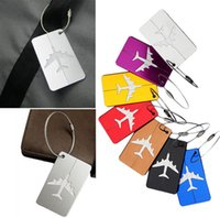 Tag baggage labels - For Travel Aluminium Luggage Baggage Tag Suitcase Bag Label With Address Name