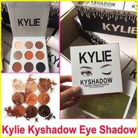 Wholesale Kylie Eyeshadow Cosmetics Kylie Jenner Kyshadow pressed powder eye shadow Kit Palette Bronze Makeup Cosmetic Colors