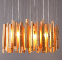 art of dining - DHL Free Ship American country Creative Design Wooden Pendant Lamp Art Deco Pastoral Style hanging Light with The Base of E27 for cafe bar