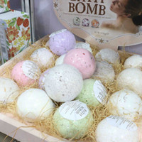 Wholesale 100g oz Natural Bubble Bath Ball Bomb Essential Oil Handmade SPA Bath Fizzy Christmas Gift Set for Her