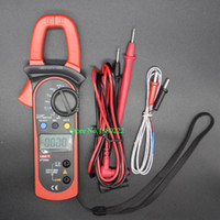 Wholesale Digital Handheld Clamp multimeter UNI T UT204A professional True RMS LCD Multifuction Ohm DC AC Voltmeter AC Ammeter Data Hold