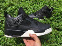 athletic brands footwears - Cheap Brand Retro IV Premium Dark Horse Mens Basketball Shoes Premium Black Pony Hair Pinnacle Mens Trainers Athletics Footwears