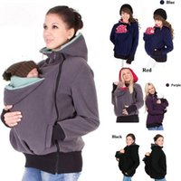 Wholesale Hot sale Baby Carrier Jacket Kangaroo Winter Maternity Outerwear Coat for Pregnant Women Thickened Pregnancy Wool Baby Wearing