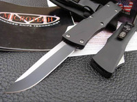 Wholesale Microtech Combat Troodon A16 Knife quot Black Single Edege Drop point Full Blade Tactical knife knives with nylon sheath retail box