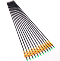 Wholesale Fiberglass Arrow cm Archery Hunting Nock Proof Fiberglass Arrow Steel Point lbs For Compound Long Bow Arrow