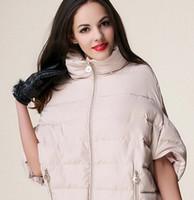 Wholesale Women s Clothing Winter Warm Women Bat Sleeve Down Coat Parka Cotton Pad Jacket Outwear