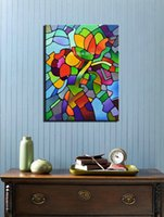 abstract acrylic artists - Famous artist modern acrylic picture abstract painting hand large canvas wall art oil painting supplier for living room wall
