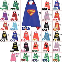 Wholesale 70cm cm Kids Superhero Capes Mask Costume Capes For Kids Superman Spiderman Superhero Cape for kids Halloween Birthday Party