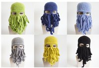 bargain knitting wool - Halloween funny Octopus hat and hip hop tide creative knitting wool hat masked men and women fashion promotion bargain price