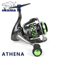 athena brand - 100 Original Okuma Brand Athena AT MS AT MS Light Spool Fishing Spinning Reel for Carp Fishing Super Light Carbon Body