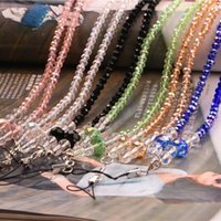beaded chain lanyards - Manufacturers selling crystal chain mobile phone lanyard mobile phone shell lobster clasp Beaded neck hanging rope