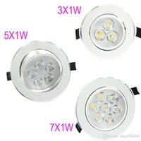Wholesale LED Downlights Recessed Lights W W W LED Spot Down Light Kitchen Saloon Home Room Recess Ceiling Lamp