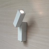 ac wall switch - New Hard wired Minimalist Flexible Wall Sconces matte white Direction Variable Switch on off CREE LED W AC V V Comfortable light