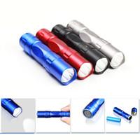Wholesale New Portable Colorful Mini LED Flashlights Keychain Stainless Steel Torch with Keyrings Energy Saving LED Mini Flashlight free DHL