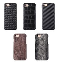 Wholesale Fashion Leather Phone Case Carbon Fiber Weave Pattern Crocodile Grain Serpentine Style For IPHONE7 IPHONE7 Plus S S Plus SE S