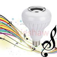 Wholesale Wireless E27 W Bluetooth Speaker Mini Smart LED Audio RGB Color Light Warm Bulb Music Lamp No Controller
