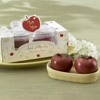 apple party games - 100sets Creative a pair of apple Seasoning pot pepper pot for wedding gifts Lottery game Little prize