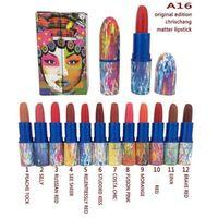 Wholesale 2016 Chris Chang Matte Lipstick Color Chris Chang Limited Edition Lipstick VERMILLION VEE Matte Serial color DHL Free