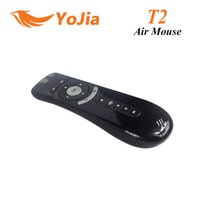 Wholesale 1pc Original Gyroscope Mini T2 Air Mouse G Wireless Keyboard Mouse T2 remote control D Sense Motion Stick For TV box