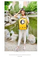 Wholesale DHL Breathable Pet Carriers Astronaut Capsule Pet Backpack Transparent Breathable Outdoor Backpack Front Case Bag Shoulders Travel Bag