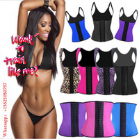 Wholesale Fashion Rubber Waist Trainer Cincher Underbust Corset sport and fitness Body Shapers four colors