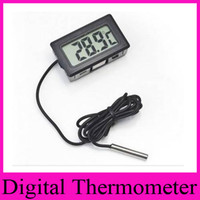 Wholesale Professinal Mini Digital LCD Probe Aquarium Fridge Freezer Thermometer Thermograph Temperature for Refrigerator Degree FY