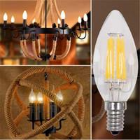 antique tail lights - Candle Light Bulb E27 E14 V W W W Edison Bulb Pull Tail Bubble Antique Vintage Style