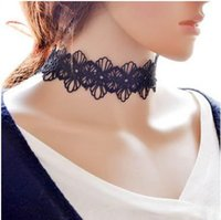 Wholesale The new lady in Europe and the exaggerated lace necklace Manufacturers selling jewelry retro black women necklace