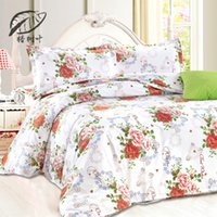 best duvet sets - 2016 New Best Price Flowers Floral Printed Comforter Plain Bedlinen Cozy Cotton Bedding Sets Simple and Elegant Bed Sheets