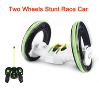 big rotating wheels - Tinyinthebox TM Two Wheels Stunt Race Car RC Vehicle with LED Headlights Double sided Tumbling Extreme High Speed Rotating