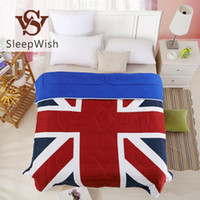 Wholesale SleepWish Fashionable Duvet British Flag Comfortable Quilt for Living Room Bedding Home Twin Full Queen pc