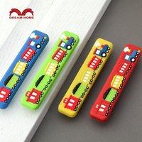 baby boy wardrobe - Children room small train safety handle cartoon soft red yellow blue green drawer wardrobe door Boy Baby Kindergarten